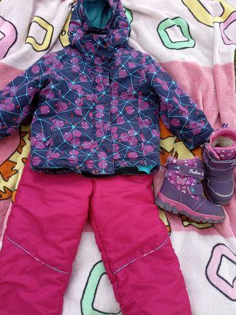 Термо комплект,термо куртка,комбінезон 98р.(3-3,5 роки)