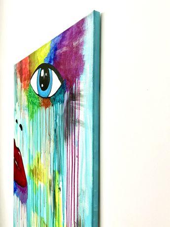 Obraz Recznie Malowany 80x60