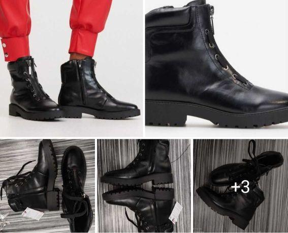 Nowe buty 37 kozaki trzewiki botki kozaczki trapery traperki zamek