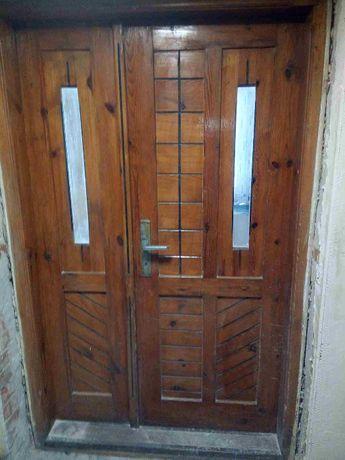 Drzwi drewniane używane 200x125