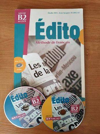 *Świąteczna Wyprzedaż* Edito B2 + CD Podręcznik do nauki francuskiego
