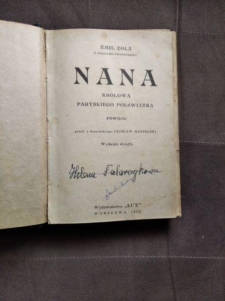 Emil Zola, Nana . Książka wydana w 1922 r.