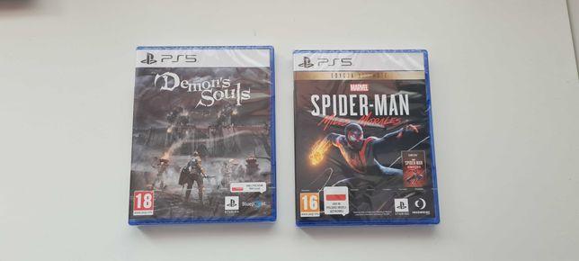Demon's Souls Spider-man Miles morales PS5 NOWE FOLIA