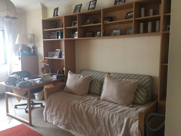 Mobilia de quarto 2 camas, nova cor faia