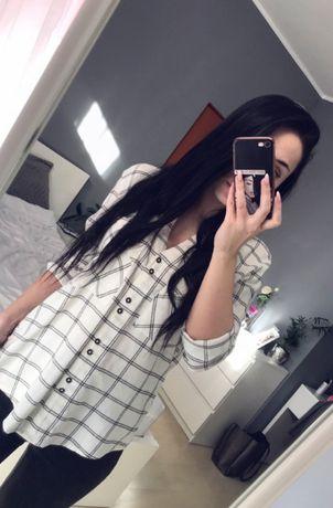 Dłuższa koszula w kratkę