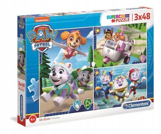 Puzzle Clementoni Super Color Psi Patrol 3x48 el.