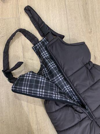 Нові Зимові теплі штани з шлейками