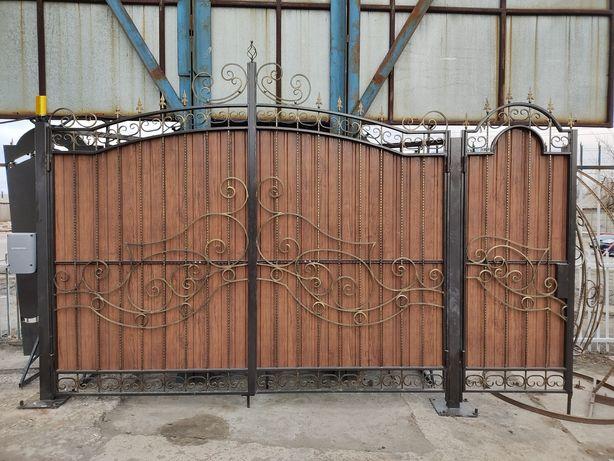 Ворота, ковка, решетки, двери, навес, перила. Автоматика для ворот