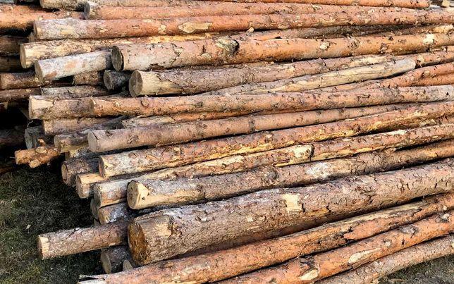 Stemple budowlane drewniane - długość 2,80 (100 sztuk)