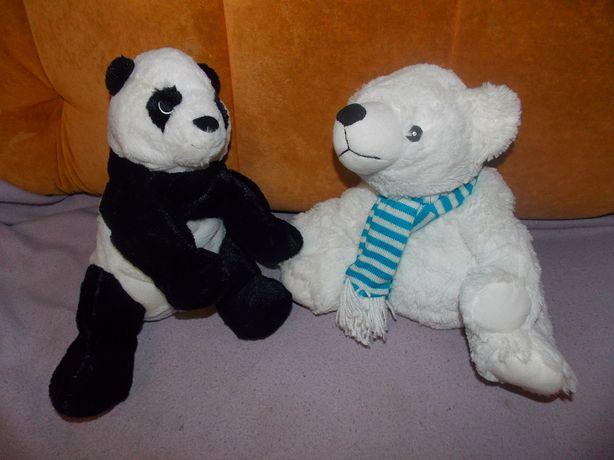 Меховой, белый Мишка, меховая Панда фирмы Clintons, 40 см.