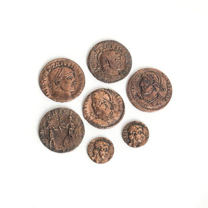 7 Moedas Romanas Guimarães - imagem 1