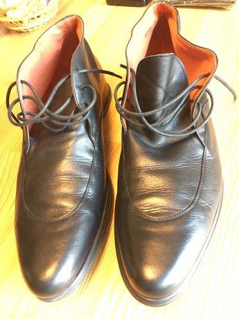 Ботинки кожанные 45 размер Италия