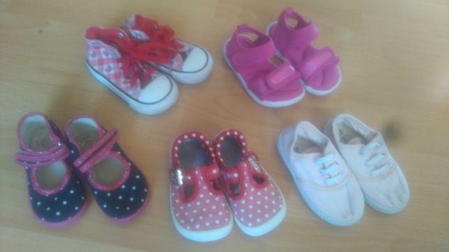 5 par: Trampki Converse i Clarks Next sandały Next papcie 12,5 cm