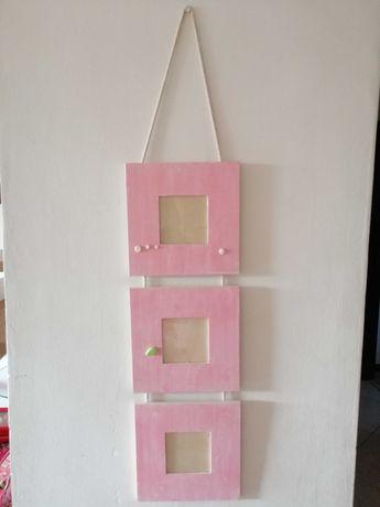 Molduras rosa 2 conjuntos de 3 cada