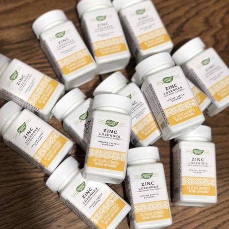 Леденцы с суточной нормой витамина С и Цинка. Zinc Vitamin C iHerb
