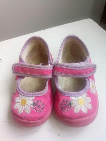 Туфельки обувь тапочки для девочки 21 размер тряпичные