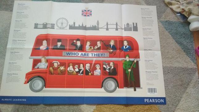 Duży plakat znani ludzie angielski Wielka Brytania Pearson