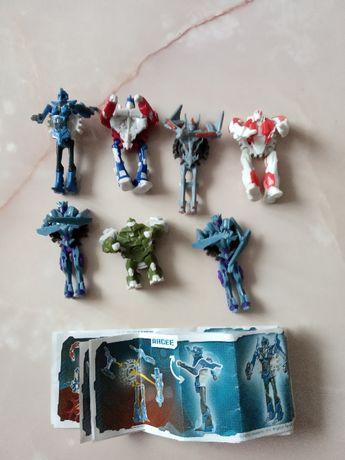 Коллекция игрушек- трасформеров от киндер- сюрприза
