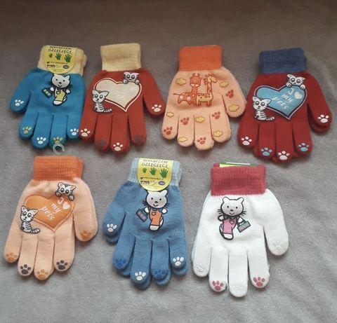 Nowe rękawiczki dziewczęce. Na 3-5 lat.