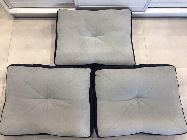 3 Poduszki dwukolorowe kanapa, taras