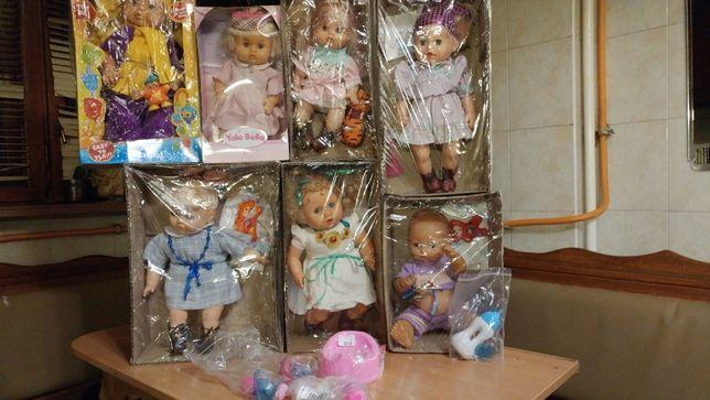 Куклы,пупсы,фирменные,с соской,бутылочкой и другими аксессуарами игры