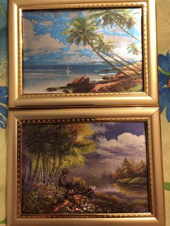 Картины в рамке с подсветкой +4 батарейки в комплекте (цена за 2)