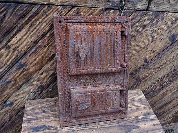 Stare żeliwne drzwiczki CHARSZNICA piec/wędzarnia