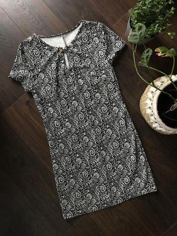 Czarno-biała sukienka - jak nowa - rozmiar XS/S