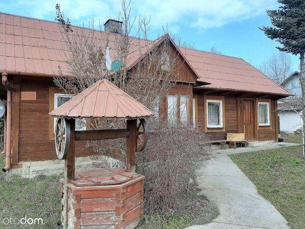 Borzęcin okolice dom drewniany działka 8 ar