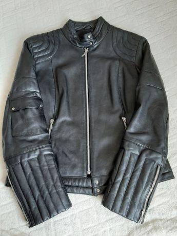 Kurtka ze skóry naturalnej, damska, rozm 38/M, biker