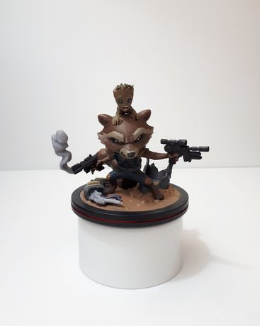 Figura - Rocket e Groot (Guardiões da Galáxia) - Exclusivo LootCrate
