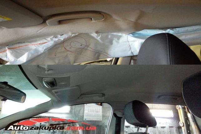 Ремонт, восстановление и перетяжка потолка авто после ДТП. Доставка