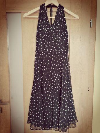 Sukienka w kropki, groszki 36