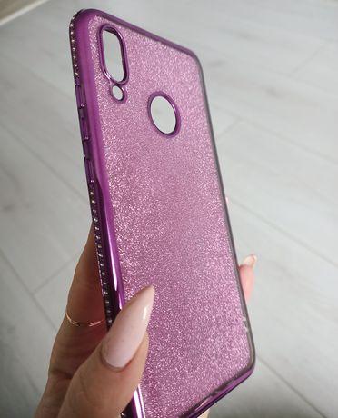 Чехол бампер силиконовый стразы до телефона honor 10 lite Huawei