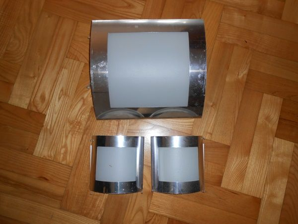 Plafon + dwa kinkiety -srebrny