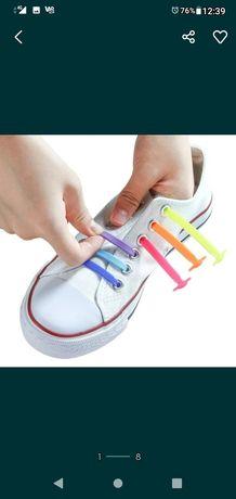 Kolorowe sznurówki bez wiązania