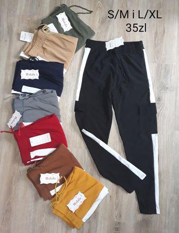 Bojówki damskie spodnie dresowe