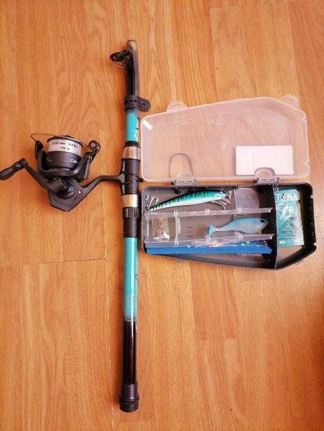 Cana de pesca caperlan + acessórios