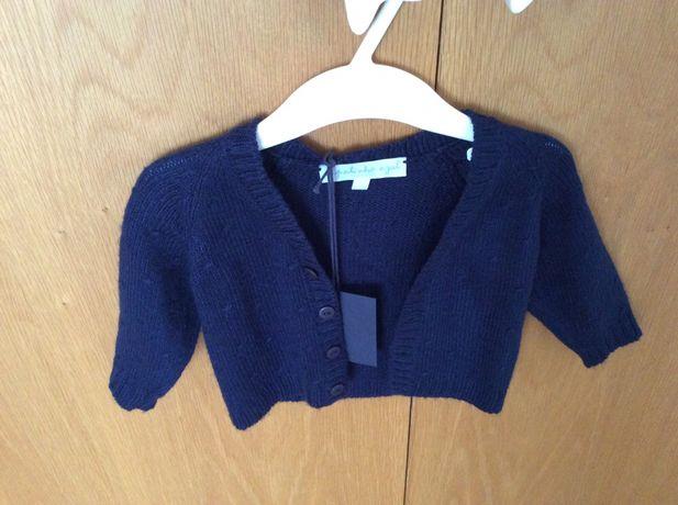 Casaco malha (6 meses) Novo com etiqueta (O patinho Azul)