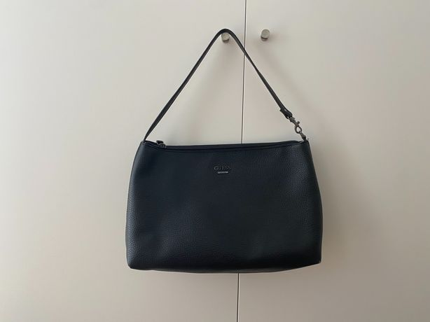 Black leather guess bag