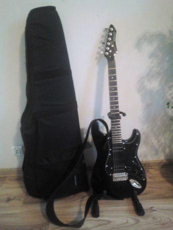 Nowa gitara elektryczna Noir z całym zestawem