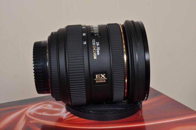 Sigma (Nikon) EX 24x70 F:2.8 DG HSM. Como novo. Caixa + Filtr UV e Pol