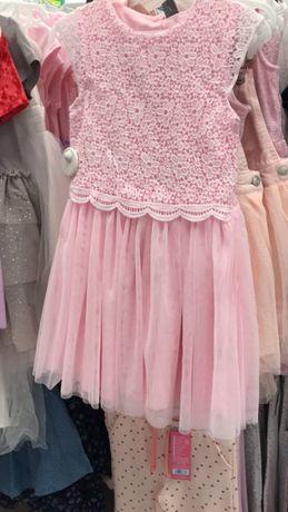 Платье нарядное на девочку, новое, 134 см. 5- 6 лет.