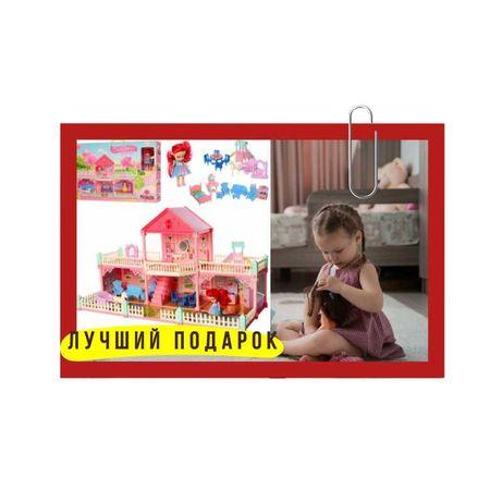 Двухэтажный детский домик Домик для кукол Кукольный домик!