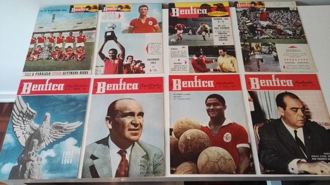 """Colecção de revistas """"O Benfica Ilustrado"""" de 1957 até 1966 - Rara"""