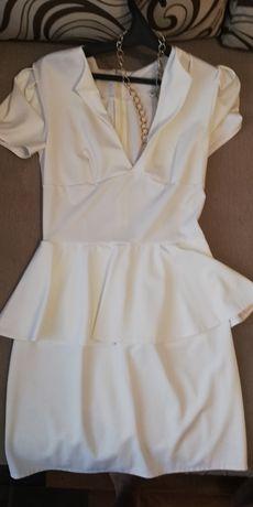 Женское платье баска белое