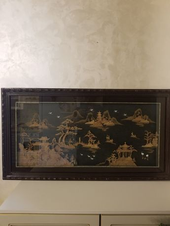 Панорамная картина из пробкового дерева