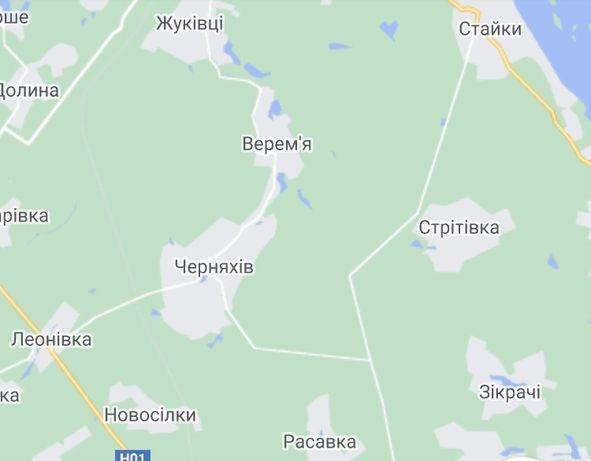 Продам земельну ділянку село Черняхів