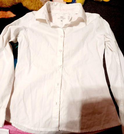 Biała koszula dla dziewczynki 128 h&m