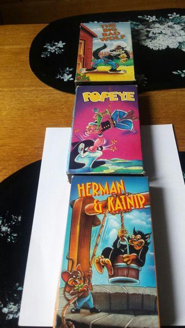 Kultowe bajki w oryginalnej wersji językowej kasety VHS kolekcje PRL